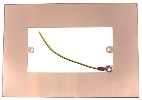 G&H 810BC Bright Copper Finger Plate Surround 212mm x 152mm for Double Plate